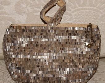 Rare 1930's Art Deco Czech Hand Beaded Vintage Evening Day Cocktail Bag