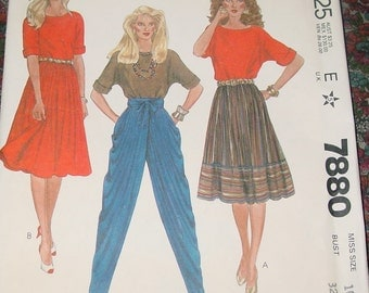 McCALL'S Separates Patterns 7880 Uncut Liz Claiborne Size 10