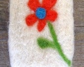 Felted soap with needle-felted flower