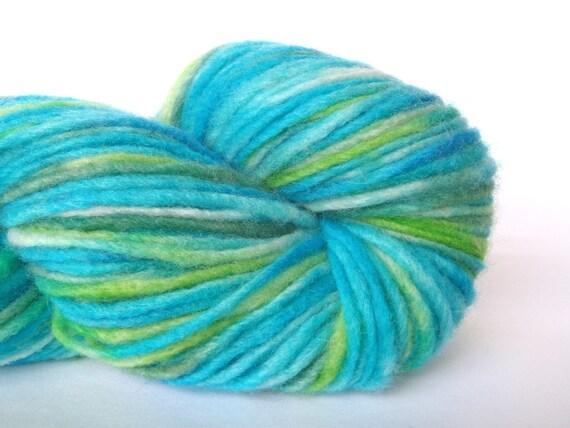 """Sale yarn, Merino wool dk yarn hand dyed in """"Riptide"""""""