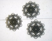 55mm Filigree Finding, Black Plated Brass (2)