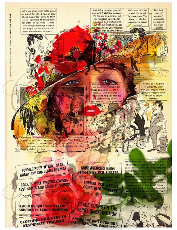 Vintage Magazine Page Art - Print It Yourself - CP-33 - 8.50 x 11 inch - Instant Download