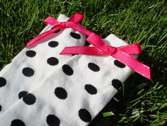 White and Black Polka Dot Leg Warmers - ONE SIZE fits most - Halloween Costume Apparel - Minnie Mouse