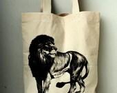 Lion king  big size Canvas tote bag/Diaper bag/Shopping bag/ Document bag /Market Bag.