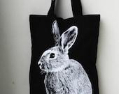 Austrarian Rabbit  big size Canvas tote bag/Diaper bag/Shopping bag/ Document bag /Market Bag.
