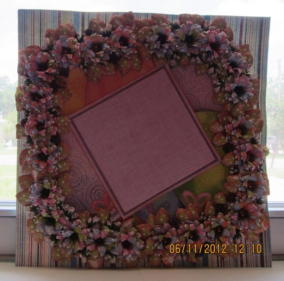 """Reserved For """"OnAMissionFromGod"""" Party in a Package Mixed Media Art 12 x 12 Layout (Framing) Was 30.00 and now 15.00."""
