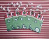Christmas Gift Tags - Green and White Dot (Set of 10)