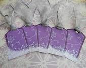 Glittered Purple Snowflake Gift Tags (set of 10)