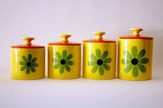 yellow canister sets kitchen resereved retro yellow orange ceramic kitchen canisters 22788