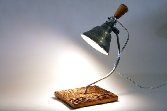Industrial Reclaimed Wood Lamp Sconce - Upcycled mfeo Design