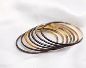 New Set of 7 Organic Buffalo Horn Bracelet Bangle Vietguild Jewelry