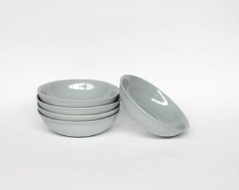 dipping bowl - porcelain (concrete colour)