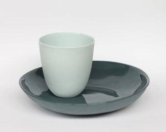 beaker - porcelain (glacier colour)