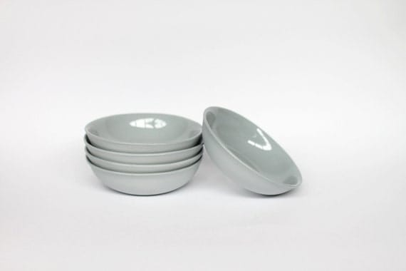 dipping bowl - porcelain (concrete colour)