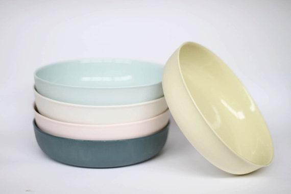 nesting bowl large - porcelain (citrus colour)