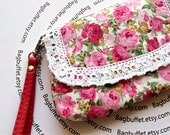 Iphone wallet/ iphone case / iphone bag/ iphone 4gs / Iphone pouch / Iphone Wristlet - Rose Garden - for blackberry , htc, samsung