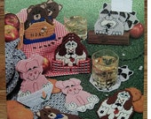 Plastic Canvas Critter Coasters American School of Needlework 3084