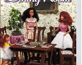 Fashion Doll Dining Room for Barbie in Plastic Canvas House of White Birches 181005