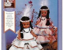 Fawn Indian Air Freshener Doll Crochet Pattern Fibre Craft FCM472