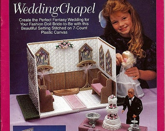 Fashion Doll Carry and Play Wedding Chapel  Barbie Plastic Canvas Pattern The Needlecraft Shop 933727