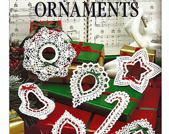 Lacy Christmas Ornaments Thread Crochet Pattern book Leisure Arts Leaflet 896