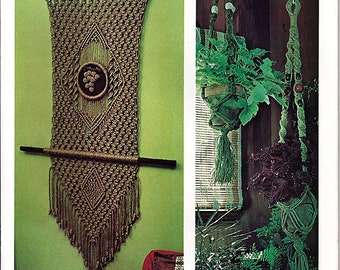 Macrame why Knot a Handy Craft Pak Macrame Pattern Book 806