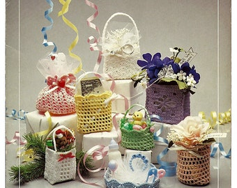 Tiny Totes Sculpture Crochet Pattern Book LS201