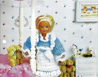 Ruffled Pinafore Crochet Doll Pattern Annies Fashion Doll Crochet Club