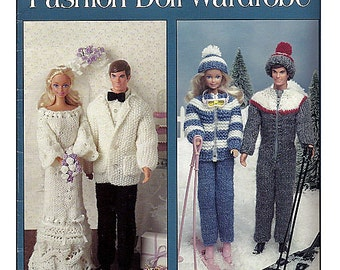Wedding and Honeymoon Fashion Doll Wardrobe 21 Knit Designs Leisure Arts 2033