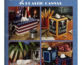 Our Best Easy Tissue Boxes In Plastic Canvas Book Leisure Arts Leaflet 1732