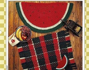 Watermelon & Tartan Rugs Crochet Pattern Vanna's Afghan and crochet Favorites 85070-G