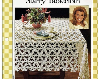 Starry Tablecloth Crochet Pattern Vanna's Favorites 85020-D