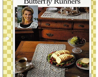 Butterfly Runners Crochet Pattern 85130-J