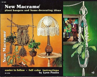 New Macrame plant hangers and home decorating Ideas  Macrame Pattern Book HP-450