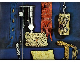 Macrame Knotting your own personal and decorative accessories  Macrame  Pattern Book 7112