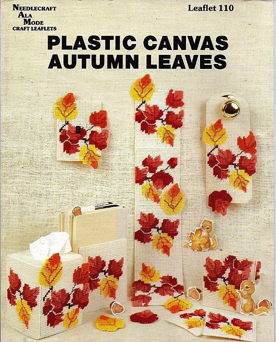 Plastic Canvas Pattern Book Autmn Leaves Needlecraft Ala Mode Leaflet 110