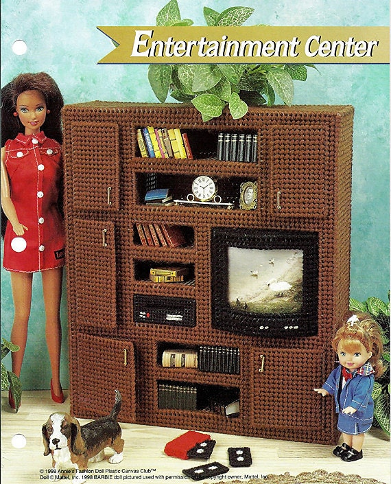 Barbie Furniture Plastic Canvas Pattern Entertainment Center