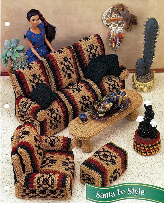 Barbie Furniture Crochet Doll Pattern Santa By