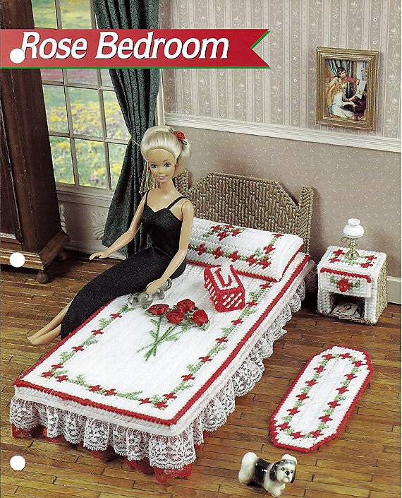 Rose Bedroom Barbie Furniture Plastic Canvas Pattern