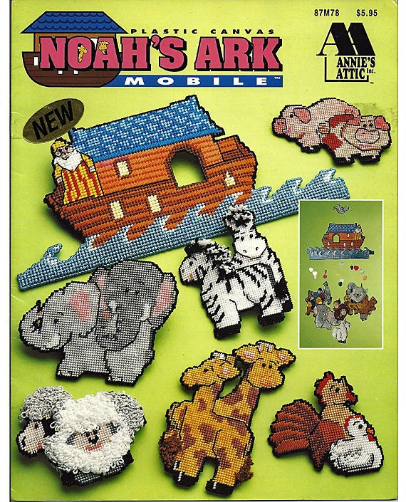 Noah S Ark Mobile Plastic Canvas Pattern By Grammysyarngarden