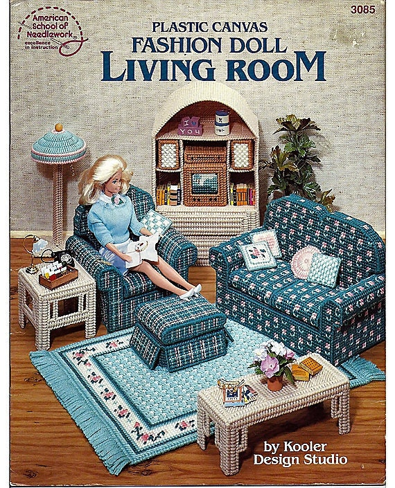 Buy Doll Furnishing Articles Resin Crafts Home Decoration: Fashion Doll Living Room In Plastic Canvas For Barbie American