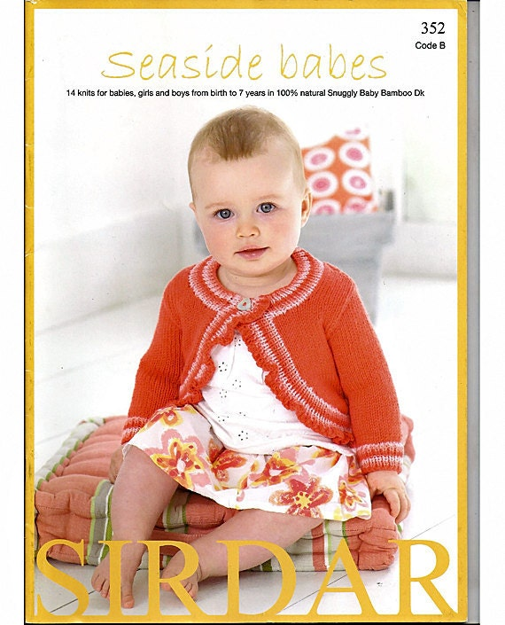 Seaside Babes Knitting Patterns by Sirdar Book no. 352