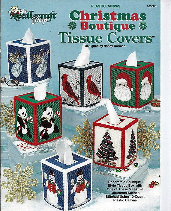 Christmas Boutique Tissue Covers Plastic Canvas Patterns The