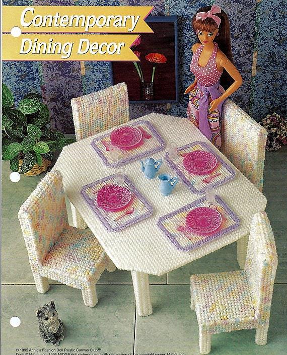 Contemporary Dinning Decor Plastic Canvas Furniture Patterns