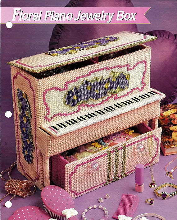 Floral Piano Jewelry Box Plastic Canvas Pattern Annies Fashion