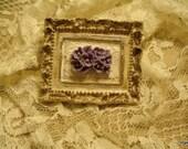 Cuadro shabby chic, vintage con arreglo floral