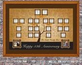 Custom 11 x 14 Family Tree Canvas