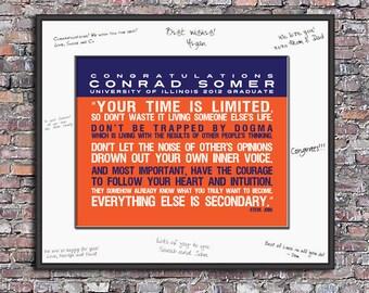 Congratulations Graduate (Steve Jobs Quote) Custom 8 x 10 Canvas