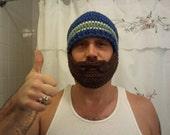 Crochet Beard Hat - custom listing for daniel s - yukon