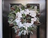 Old Fashioned Winter White Wreath